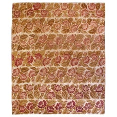 Antique Roses on Ivory Field Needlepoint Wool Carpet