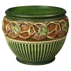Antique Roseville Normandy Grape & Leaf Art Pottery Jardiniere Circa 1930