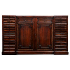 Antique Rosewood Collectors Cabinet