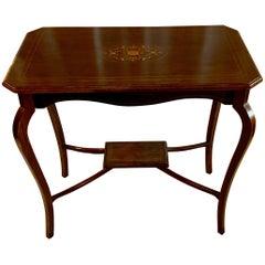 Antique Rosewood Inlaid Lamp Table circa 1860-1880