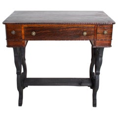 Antique Rosewood Work Table with Drawers Art Deco Period