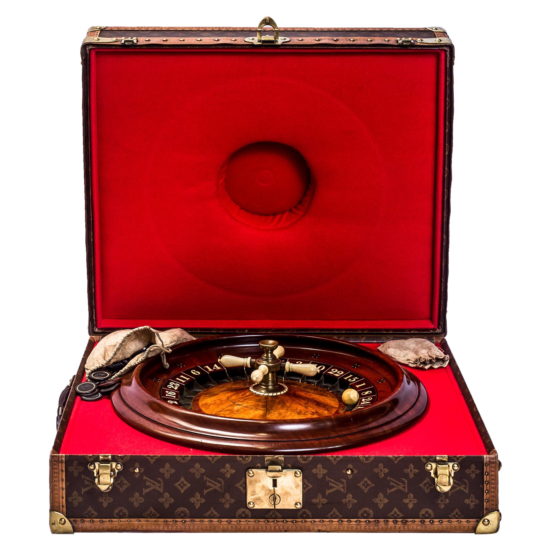 Antique Roulette Wheel Fitted into a 1950s Louis Vuitton Case