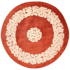 Antique Round Art Deco Carpet by Leleu