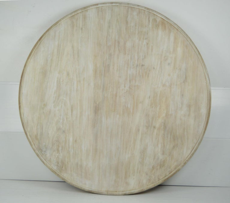 Palladian Antique Round Bleached Mahogany and Pine Breakfast Table For Sale