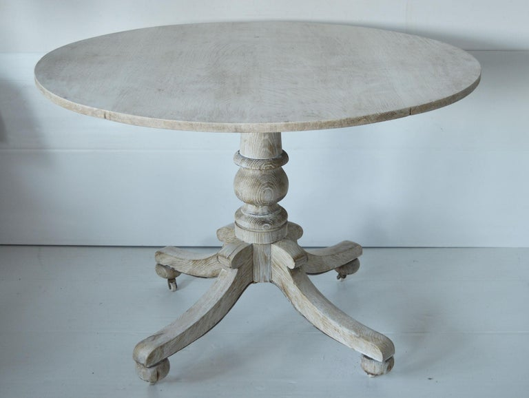 Fabulous bleached round table.