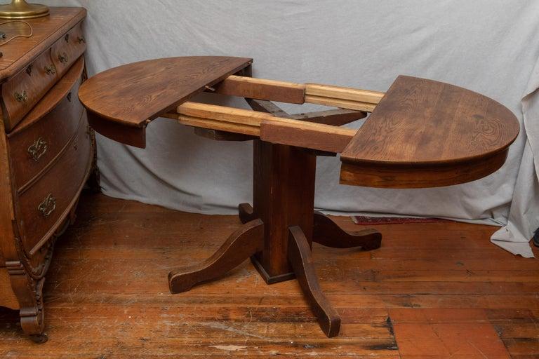 Antique Round Oak Pedestal Table In The, Antique Round Oak Table