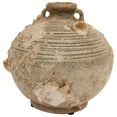 Antique Round Sawankhalok Jar, Sawankhalok, Thailand, 15th Century