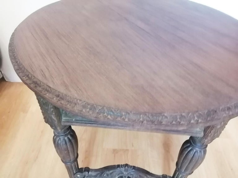 Antique Round Table With Six Adam Style Legs England 19th Century For Sale 3