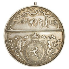 Antique Royal Caledonian Curling Club District Medal