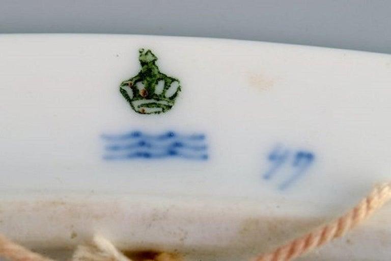 Hand-Painted Antique Royal Copenhagen Anniversary / Commemorative Plate in Porcelain For Sale