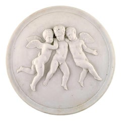 Antique Royal Copenhagen Bisquit Relief After Thorvaldsen, 1870s