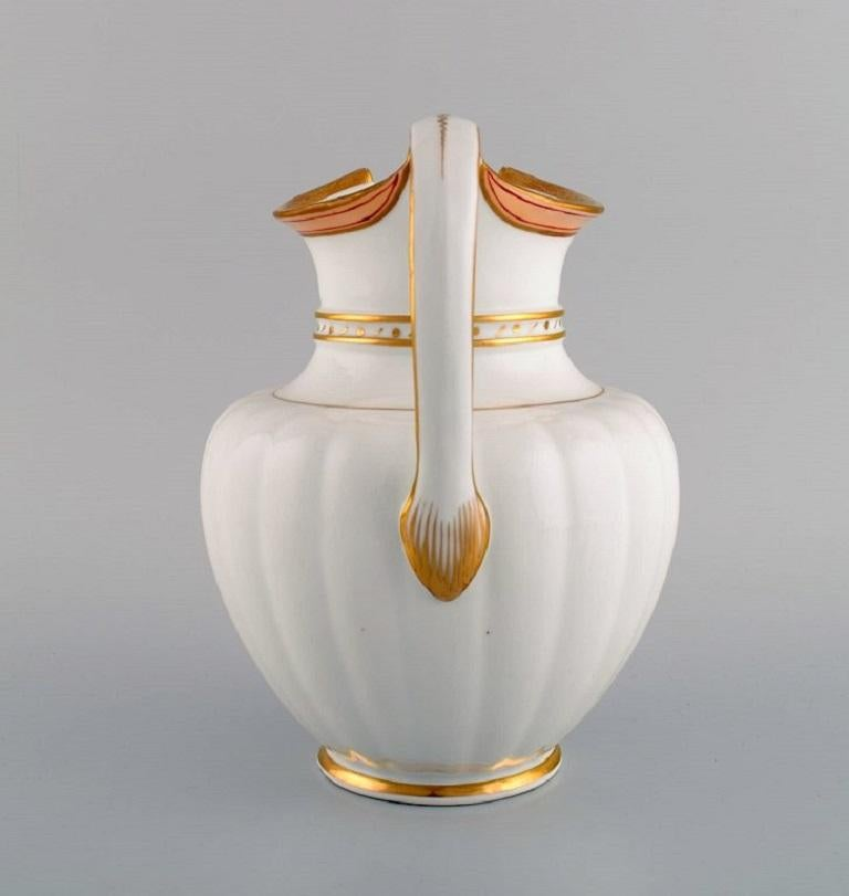Danish Antique Royal Copenhagen Chocolate Pot in Hand Painted Porcelain, 1820-1850 For Sale