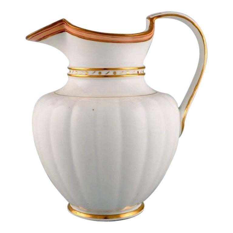 Antique Royal Copenhagen Chocolate Pot in Hand Painted Porcelain, 1820-1850 For Sale