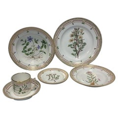 Antique Royal Copenhagen Flora Danica Set for 12 Persons 72 Pieces