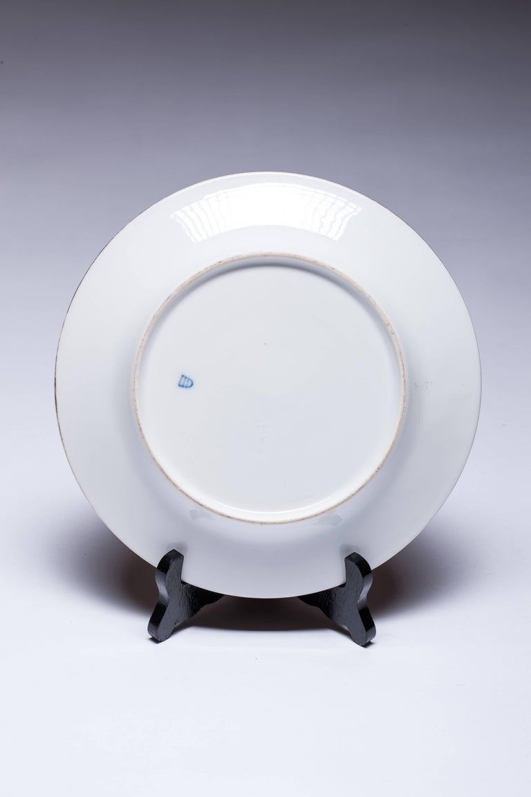 Antique Royal Vienna Scenic Porcelain Plate Signed K.Weh In Excellent Condition For Sale In Vilnius, LT