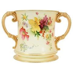 Antique Royal Worcester, Two Handled Vase, #5, B1987