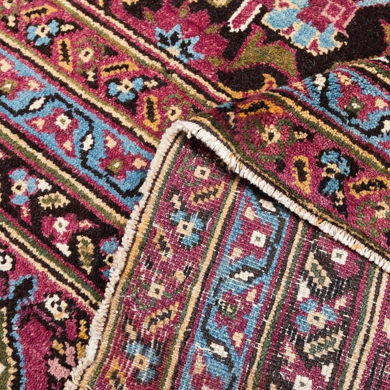 Early 20th Century Antique Rug, Agra from India Design of Palmettes, circa 1900 For Sale