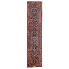 Antique Rug Caucasian Runner, Handmade Carpet, Living Room Rugs Stair Runner