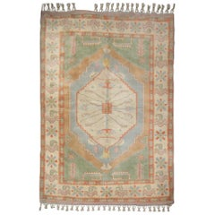 Antique Rug Handmade Oriental Rug Turkish Rugs, Vintage Rug Milas, Green Carpet