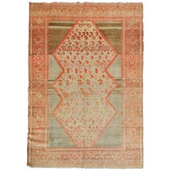 Antique Rug Hand woven Turkish Rug, Wool Carpet as Living Room Rug for Sale