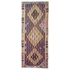 Antique Rug, Handmade Carpet Oriental Rug Turkish Kilim Runner