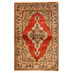 Antique Rug Handmade Carpet Red Rug Medallion Carpet Area Rug
