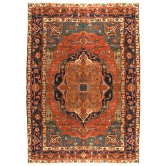Antique Rug  Persian Bakshayesh, Hand Knotted, Circa 1880