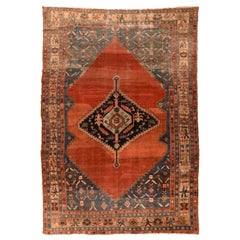 Antique Rug Persian Bakshayesh Hand Knotted, circa 1890