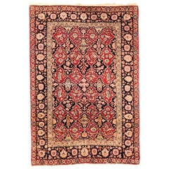 Antique Rug, Persian Isfahan, circa 1890