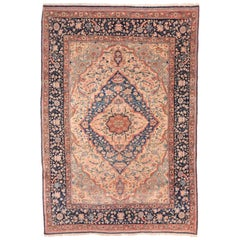 Antique Rug, Persian Mohtasham Kashan, circa 1890