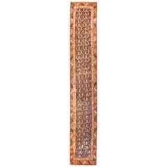 Antique Rug Persian Runner North West Persia, Hand Knotted, circa 1910