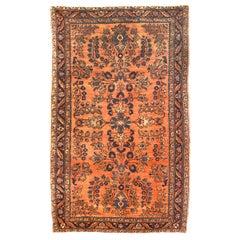 Antique Rug Persian Sarouk, Hand Knotted, circa 1910