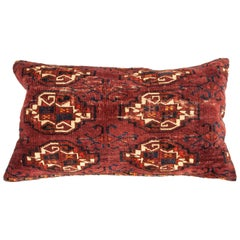 Antique Rug Pillow Case Fashioned from a Turkmen Yomud Chuval/Bag, 19th Century