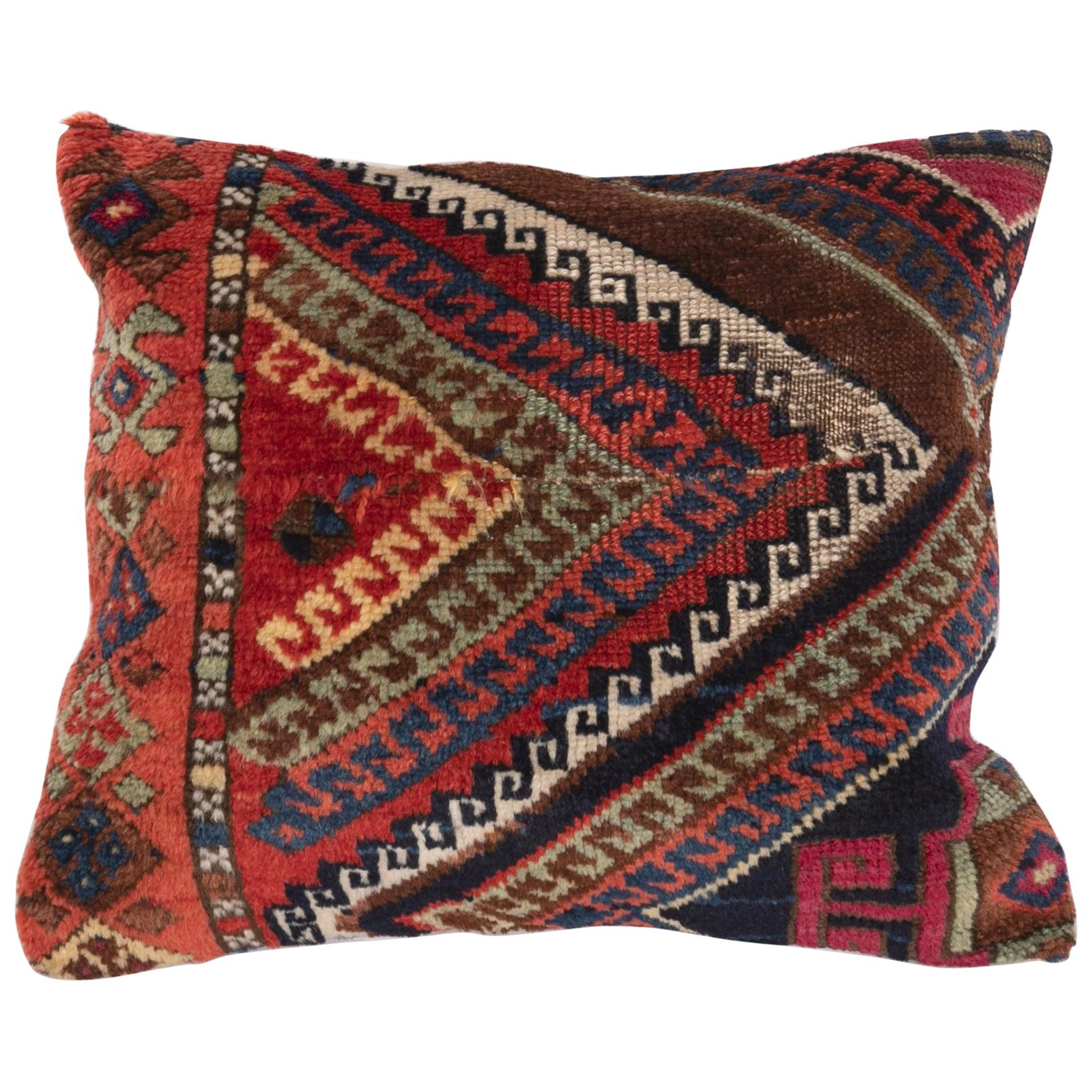 Antique Rug Pillow Case Made from an East Anatolian Rug Fragment, 19th Century