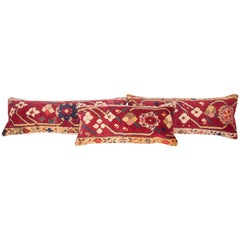 Antique Rug Pillow Cases Fashioned from Armenian Susha Rug, Late 19th Century