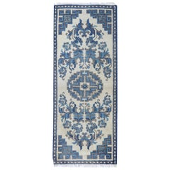 Antique Rug Runner Chinese Rugs Blue Handmade Carpet Runners for Sale