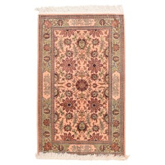 Antique Rug Turkish Herekeh Poetry Hand Knotted, circa 1920