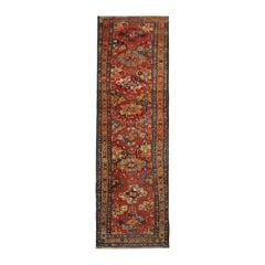 Antique Rug, Turkmen Oriental Runner, Caucasian Living Room Carpet Runner