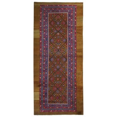 Antique Rugs, Camel Pure Wool Caucasian Handmade Carpet Runners, Oriental Rugs