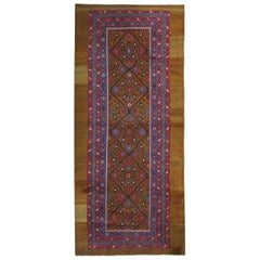 Antique Rugs, Camel Pure Wool Caucasian Handmade Carpet Runners, Oriental Rugs