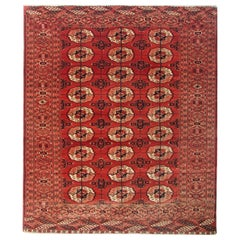Antique Rugs, Handmade Carpet Oriental Rug, Turkmen Rugs