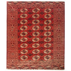Antique Rugs, Handmade Carpet Oriental Rug, Turkmen Rugs