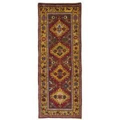 Antique Rugs Handmade Carpet Runners, Caucasian Karabagh Runner Rugs for Sale