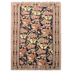 Antique Rugs Handwoven Oriental Kilim Rug Geometric Carpet
