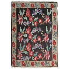 Antique Rugs, Moldovian Kilim Rugs, Oriental Rug Handmade Carpet for Sale