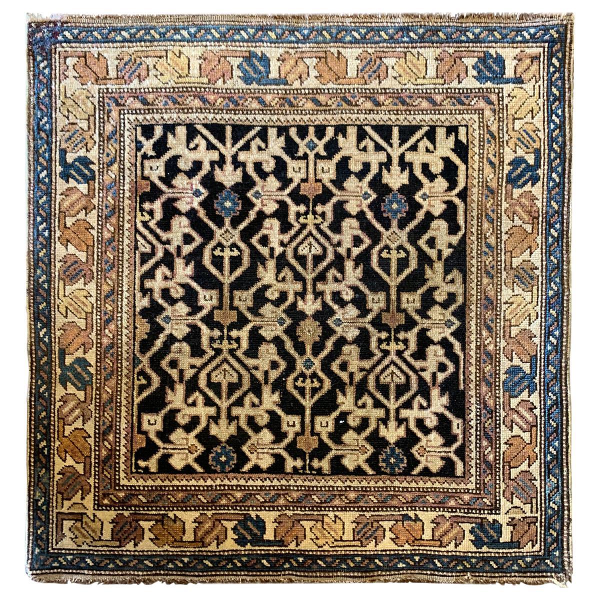 Antique Rugs Oriental Caucasian Kuba, Traditional Handmade Carpet