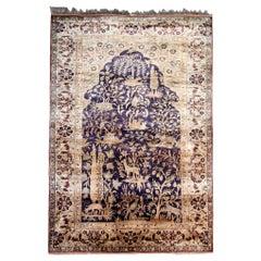 Antique Rugs, Pure Silk Rugs Turkish Rugs Handmade Carpet Oriental Rug
