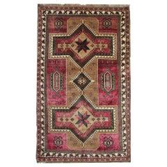 Antique Rugs, Purple Caucasian Handmade Carpet from Karabagh Oriental Wool Rug
