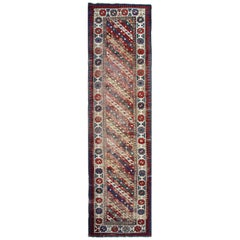 Antique Rugs Runner Caucasian Handmade Carpet Runners, Oriental Rugs