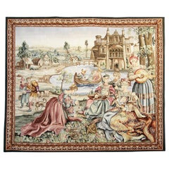 Antique Rugs, Tapestry Flemish Wall Decoration Object, Decorative Rugs for Sale